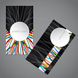 Ribbon business card with big 3d circle