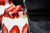 Chia Strawberry Parfait Macro