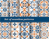 set of vector abstract pattern paper for scrapbook