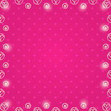 Frame with White Hearts in Balls