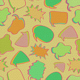Retro Bubble Chat Seamless Pattern.