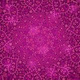 Cute Purple Valentine's Pattern with Heart