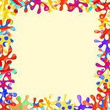 Colorful Abstract Frame with Splash Blots