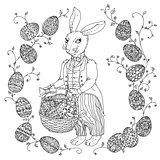 Easter Bunny pfor a coloring book
