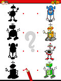 shadows activity with robots