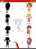 preschool shadow game with kids