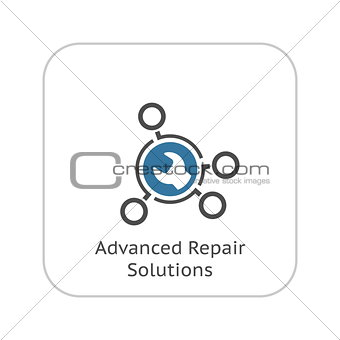Advanced Repair Solutions Icon. Flat Design.