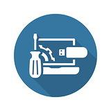 Repair Kit Icon. Flat Design.