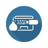 Laptop Maintanance Icon. Flat Design.