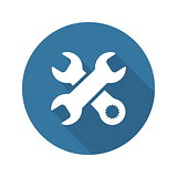 Repair Service Icon. Flat Design.