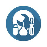 Maintanance Kit Icon. Flat Design.
