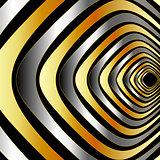 Illusion with metallic rings