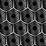 Silver hexagonal optical illusion