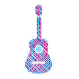 Guitar scribbled