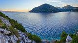 Evening summer Ston coastline (Croatia).