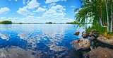 Lake Rutajarvi summer panorama (Finland).