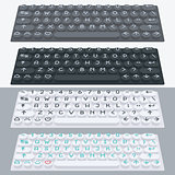 Vector flat modern keyboard, alphabet buttons. Material design