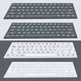 Vector flat modern keyboard, alphabet buttons. Material design