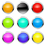 Vector buttons icons.