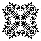 Antique ottoman turkish pattern vector design fifty eight