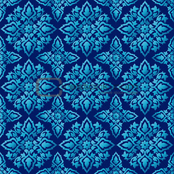Antique ottoman turkish pattern vector design seventy five