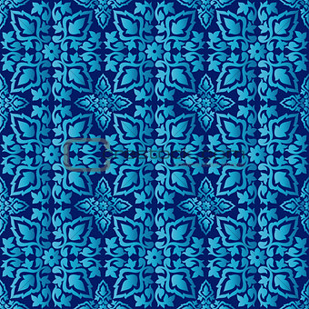Antique ottoman turkish pattern vector design seventy four