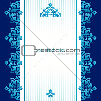 Antique ottoman turkish pattern vector design seventy six