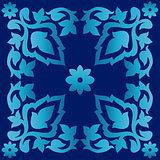 Antique ottoman turkish pattern vector design seventy two