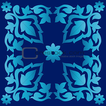 Antique ottoman turkish pattern vector design seventy two