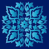 Antique ottoman turkish pattern vector design sixty eight