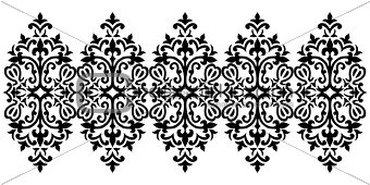 Antique ottoman turkish pattern vector design sixty five