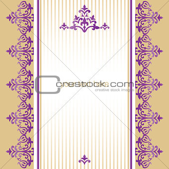 Antique ottoman turkish pattern vector design sixty nine
