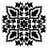 Antique ottoman turkish pattern vector design sixty seven
