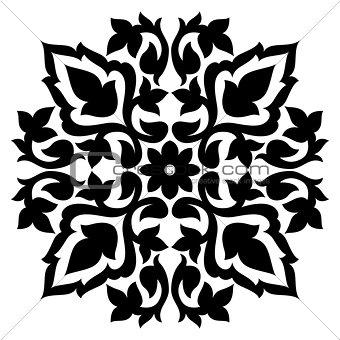Antique ottoman turkish pattern vector design sixty seven