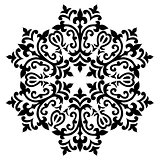 Antique ottoman turkish pattern vector design sixty