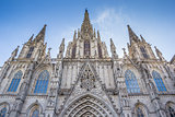 Facade of the cathedral in Barcelona