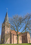 Medieval Petrus church in the center of Leens