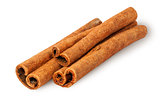 Heap of cinnamon sticks