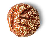 Rye bread with sesame seeds top view