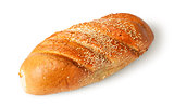White long loaf with sesame seeds rotated