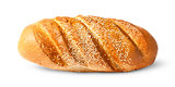 White long loaf with sesame seeds