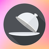 Restaurant cloche Icon flat