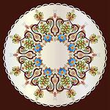 Antique ottoman turkish pattern vector design eighty one