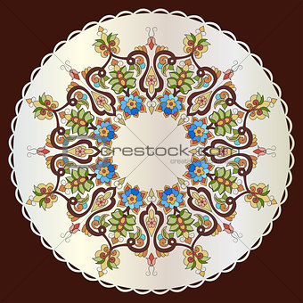 Antique ottoman turkish pattern vector design eighty one