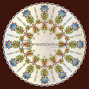 Antique ottoman turkish pattern vector design eighty two