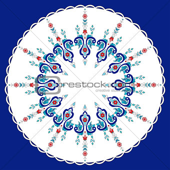 Antique ottoman turkish pattern vector design eighty
