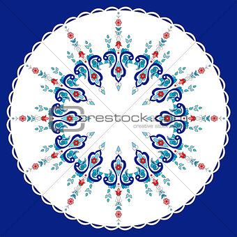 Antique ottoman turkish pattern vector design eighty