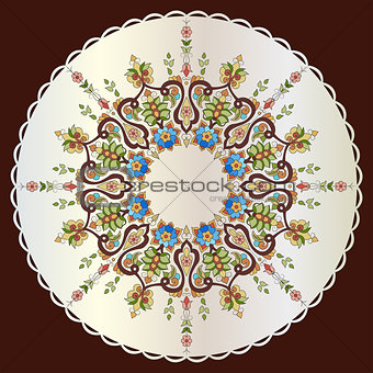 Antique ottoman turkish pattern vector design seventy nine