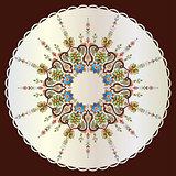 Antique ottoman turkish pattern vector design seventy seven