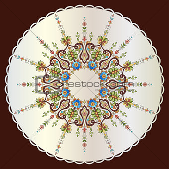 Antique ottoman turkish pattern vector design seventy seven